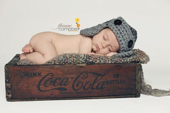 Love the Aviator hat and Coca-Cola Crate! SO PRECIOUS!