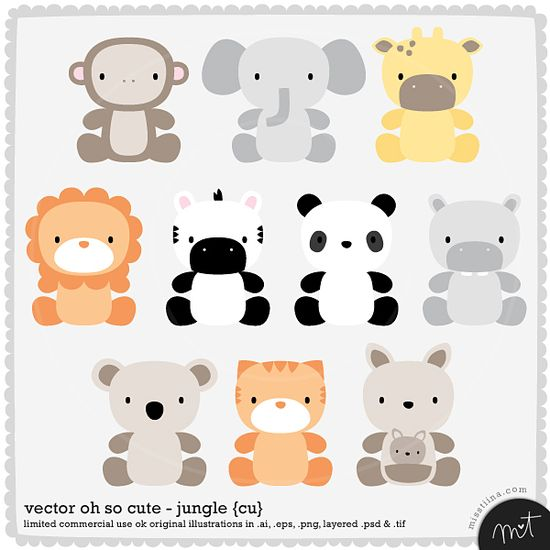 baby animal vectors