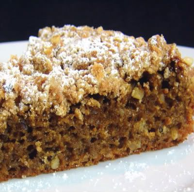 Coffee and Walnut Snack Cake