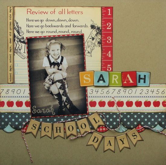 Vintage School Days - Scrapbook layout