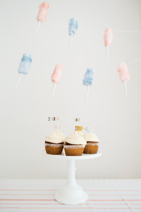 Cotton Candy Garland DIY
