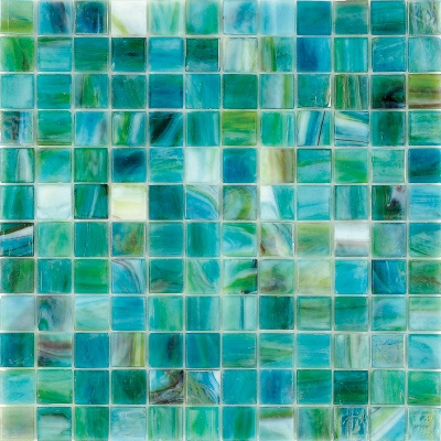 Ocean colored glass tile...makes me happy!