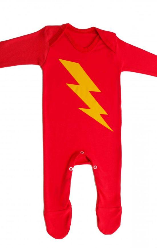 Superhero Baby Sleepsuit