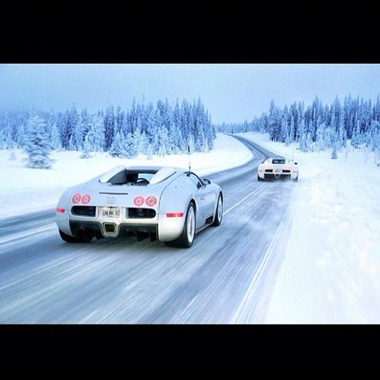 Bugatti racing in a winter #customized cars #luxury sports cars #sport cars #ferrari vs lamborghini