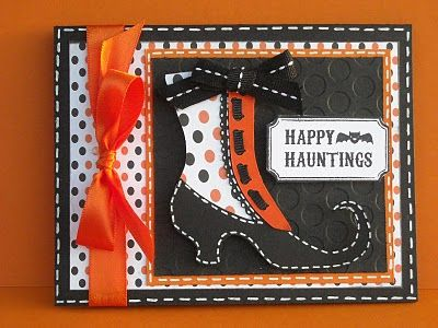 I like the shoe.  I like how the patterned paper is paired.  Also, the ribbon.  In short, all of it.
