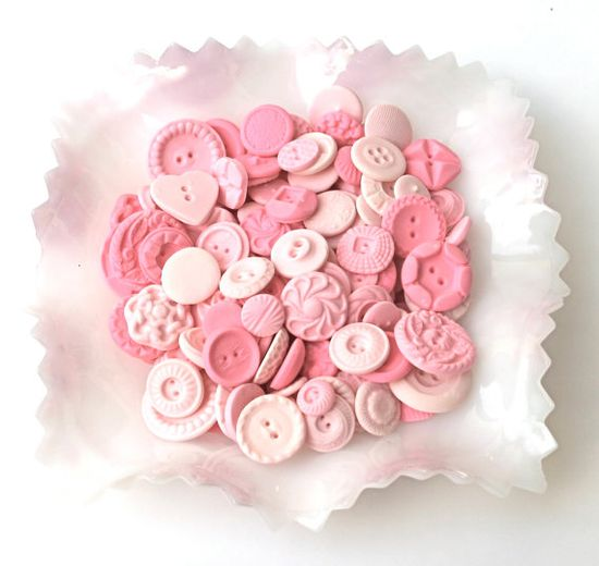 Tickled Peppermint Pink Candy Buttons by Andie' Specialty Sweets.