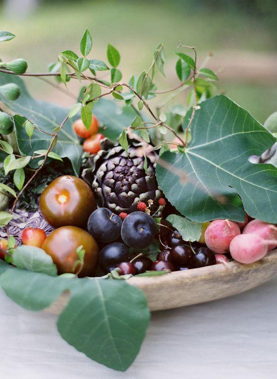 Fruit arrangements.