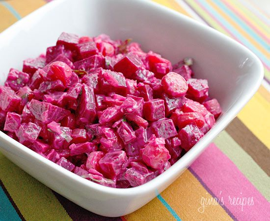 Red Beet Salad - If you haven't tried beets yet, I promise you this is delicious. This was the recipe that got me to love beets. #memorialday