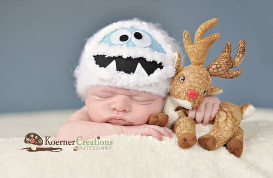 Abominable Snowman/Yeti Newborn photography prop
