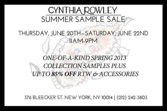 New York Sample Sale