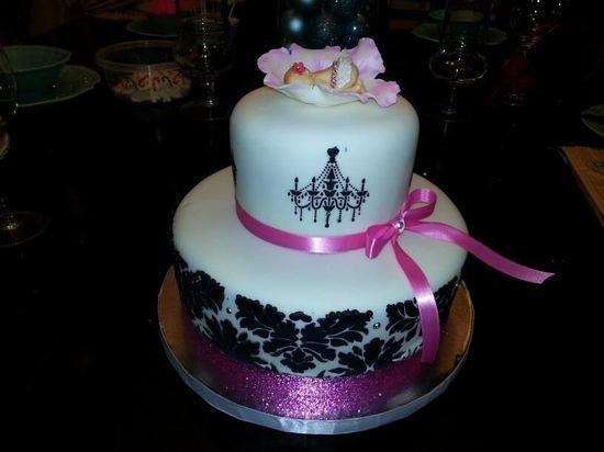 black damask baby shower cake - Google Search