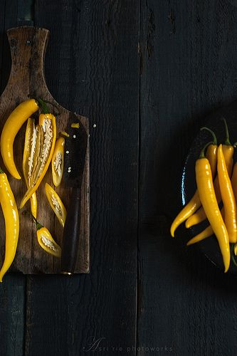 Long hot yellow peppers
