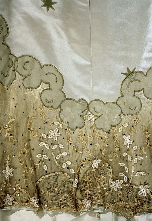 1898–1900 House of Worth evening dress, skirt detail