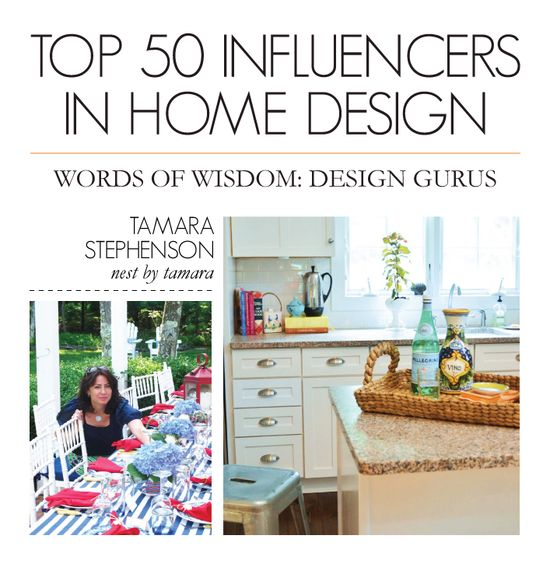 Thanks to Dot & Bo for featuring me as the in their top 50 influencers in Home Design blog.dotandbo.com...