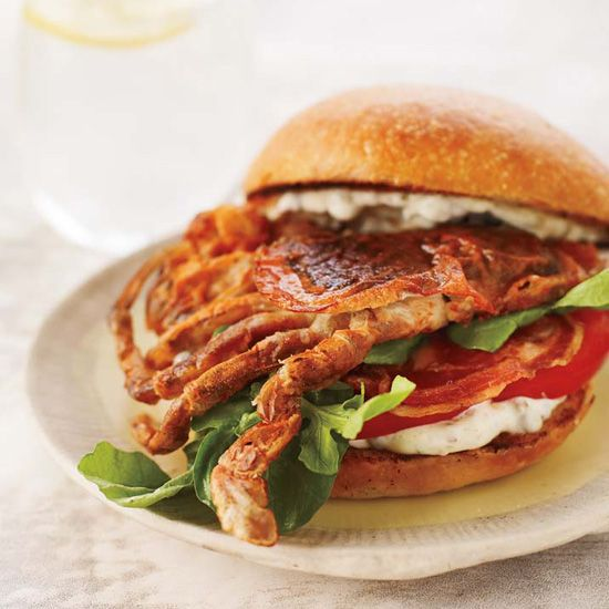 Soft-Shell Crab Sandwiches with Pancetta and Remoulade // Beach Shack Classics: www.foodandwine.c... #foodandwine