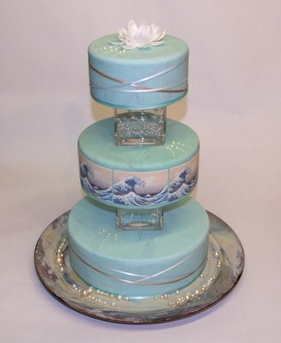 Great Wave Wedding Cake by Alix s Cakes, via Flickr
