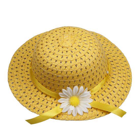 $1.97 Lovely Kids Girls Children Yellow Straw Sun Hat Cap And Cute Straw Handbag Set