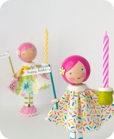 birthday wishes lolli doll by lollipopworkshop on Etsy