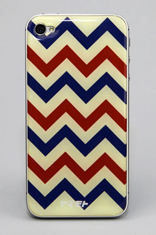 Chevron Epoxy Gel Skins iPhone Cover.  I would use a phone cover if it looked like this....