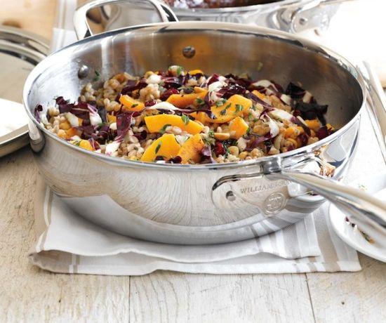 Warm Farro Salad with Butternut Squash and Hazelnuts