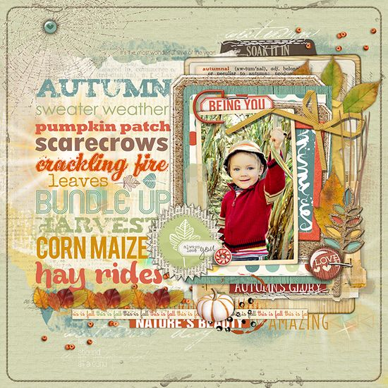 #papercraft #scrapbook #layout    Great colors and what a cute spider web in the upper left corner!