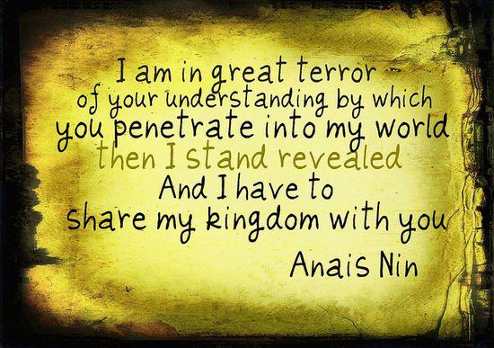 Anais Nin Quote by Sylvia Olivier, via Flickr