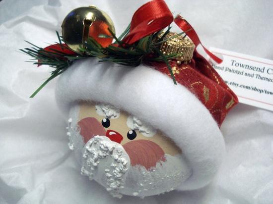 Santa ornaments.