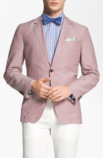 Real men wear pink & bowties.