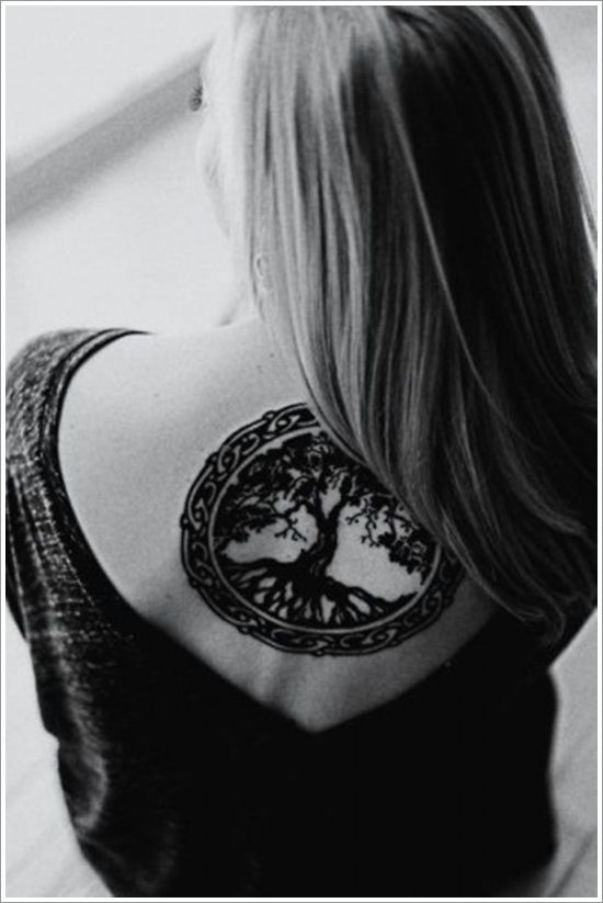 Celtic Tattoo Designs: Nature Celtic Tattoo Design For Girl On Back ~ tattooeve.com Tattoo Design Inspiration