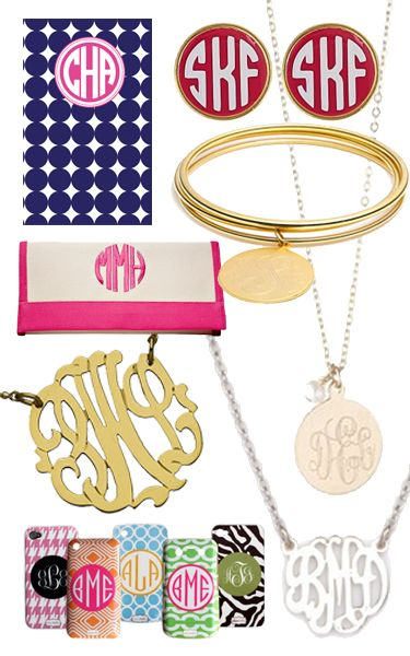 College Prep: monograms!