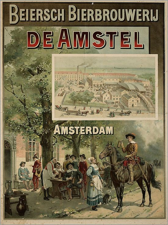 Beiers Bier brouwerij De Amstel. Amsterdam 1895