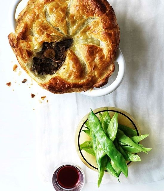 Beef, Mushroom, and Red Wine Pie