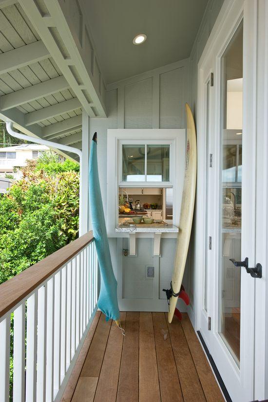 Kitchen window to deck