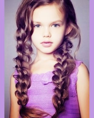 Cute kids hair braid style- I want my little girl to have crazy long hair!