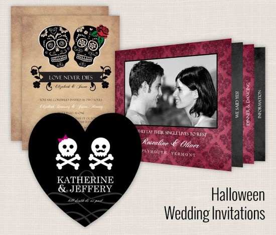 Wedding Paperie lets you create your own kick-ass themed wedding invitations -- including these skull invites!