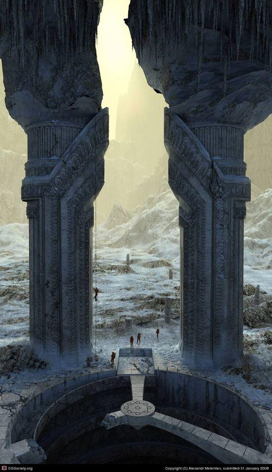 CGTalk - Gate in an empire Aid. Expedition. , Alexandr Melentiev (3D)