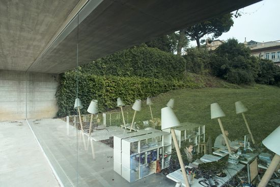 underground garage turned architecture office by carlo bagliani in genoa, italy