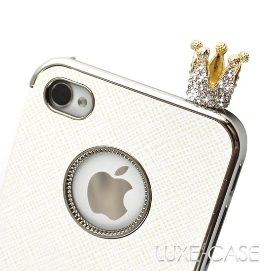 The Royal Crown Rhinestone Bling iPhone Charm in Gold