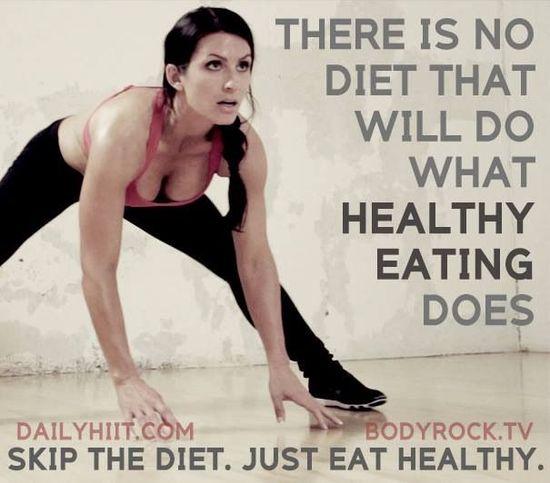 Healthy eating is key