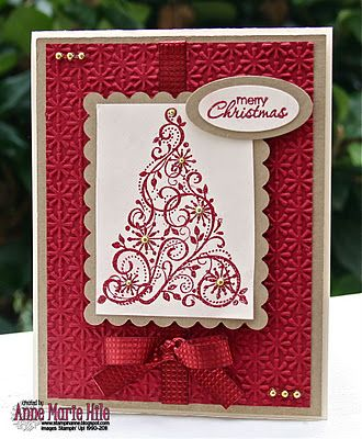 Very easy and crisp look with embossing folder and embossing powder use.