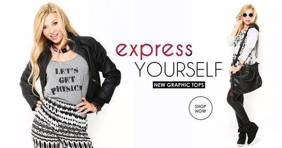 Express yourself in new graphic tees!