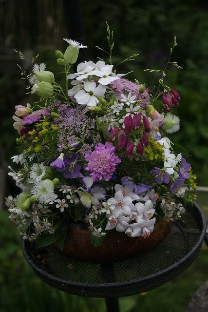 Petite flower arrangement by Oenothera, via Flickr