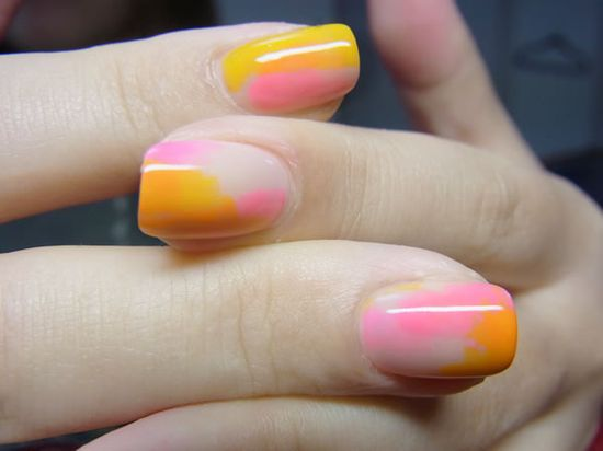 watercolor nail art #manicure