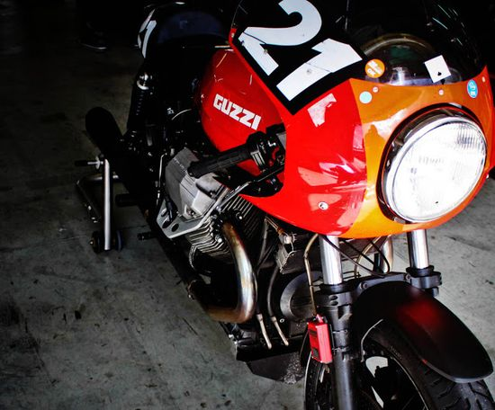 Classic perfection: a Moto Guzzi 850 Le Mans Mk1.