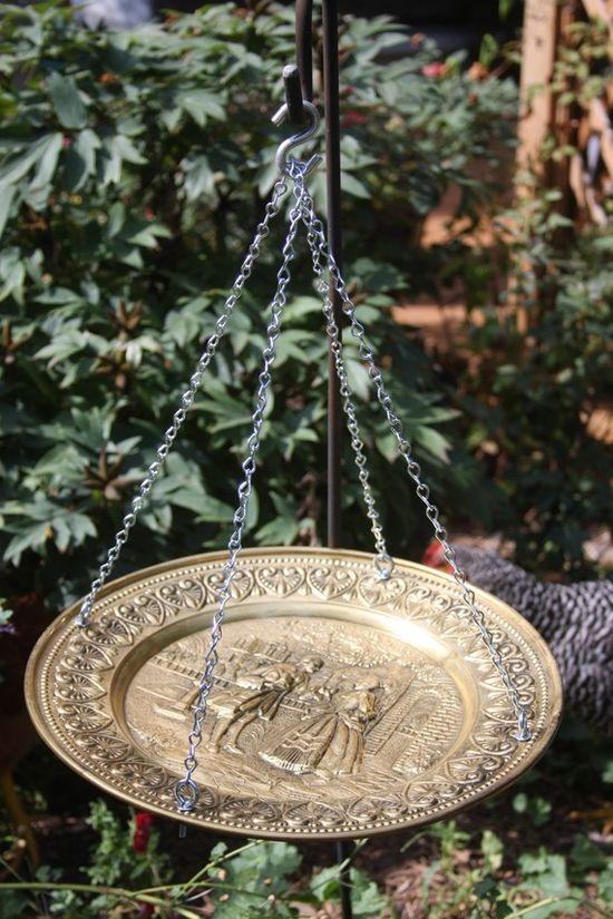 Repurposed bird feeder