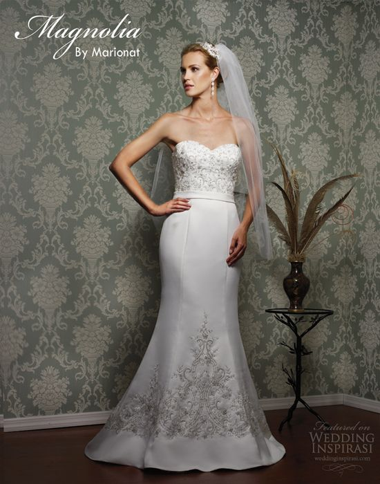 magnolia by marionat spring 2013 bridal strapless trumpet gown @ weddinginspirasi....