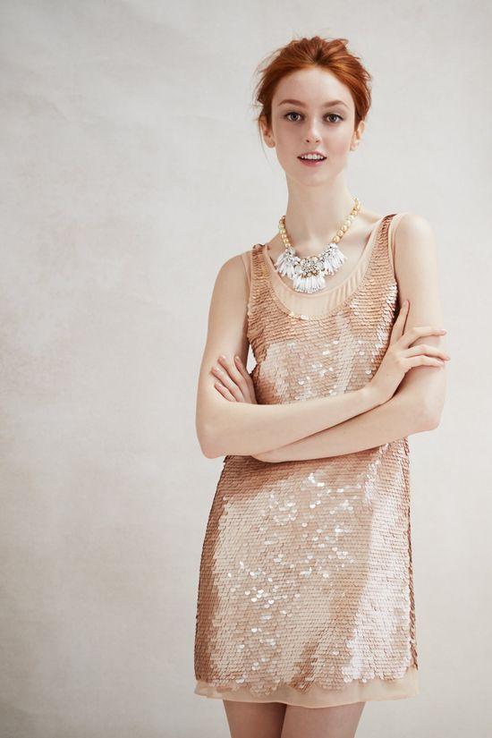 sparkle & shimmer dress. #anthropologie