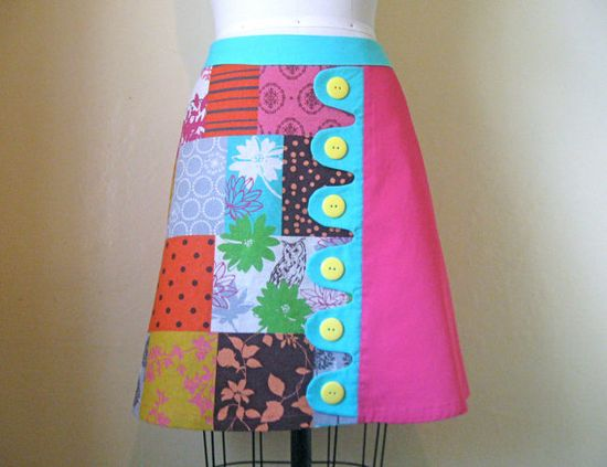 Betty Lou asymmetrical aline skirt Sz 12 by LoveToLoveYou on Etsy