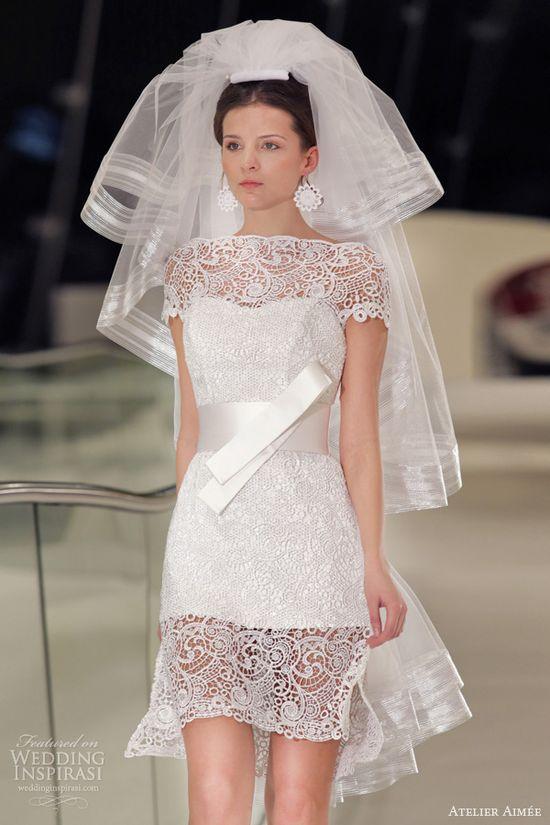atelier aimee 2014 short wedding dress tiffany