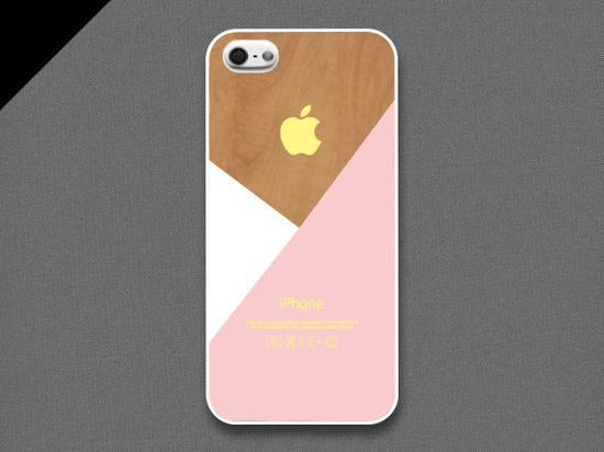 iPhone 5 Case - Pastel pink layered on wood pattern, iPhone Case, iPhone 5 Case, Cases for iPhone 5, Hard iPhone 5 Case